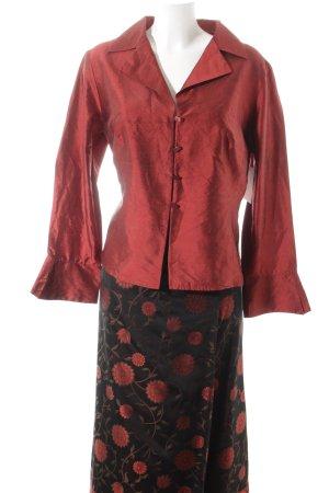 Vera Mont Kostüm schwarz-rot Blumenmuster extravaganter Stil