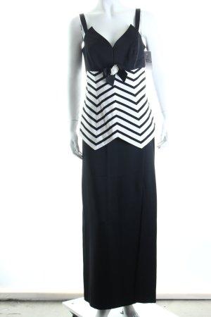 Vera Mont Kostüm schwarz-weiß Streifenmuster Eleganz-Look