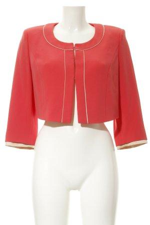 Vera Mont Blazer corto rosso neon-crema stile professionale