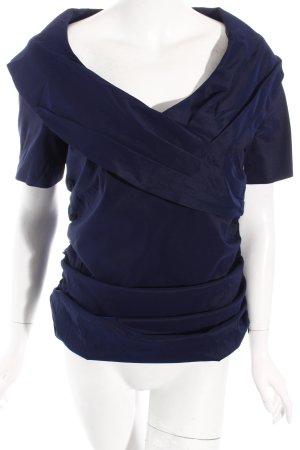 Vera Mont Kurzarm-Bluse dunkelblau Casual-Look