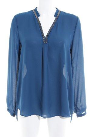 Vera Mont Langarm-Bluse blau Elegant