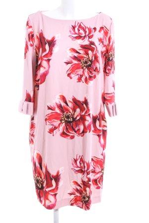 Vera Mont Langarmkleid rosa-rot Blumenmuster Elegant
