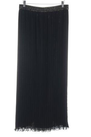 Vera Mont Jupe longue noir-doré élégant