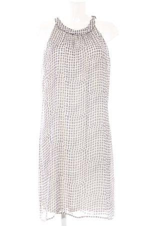 Vera Mont Minikleid weiß-dunkelblau Allover-Druck Elegant