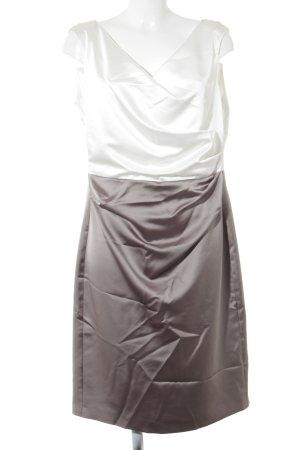 Vera Mont Minikleid weiß-graubraun Business-Look