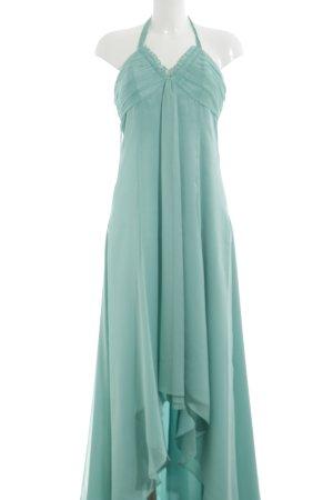 Vera Mont Vestido de cuello Halter turquesa elegante