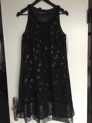 Vera Mont Neu Seidenkleid mit Pailletten