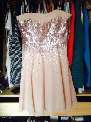 Vera Mont Nude Prom Abend Kleid mit Pailletten
