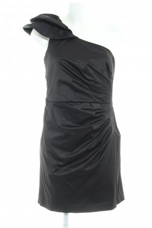 Vera Mont Vestido de un hombro negro elegante