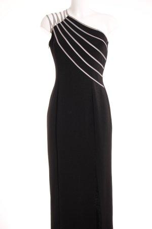Vera Mont One-Shoulder-Kleid schwarz-hellgrau Elegant