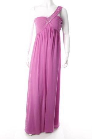 Vera Mont One Shoulder Dress violet Gemstone ornaments