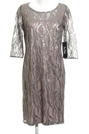 Vera Mont Abito con paillettes malva-viola-grigio elegante