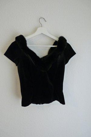 Vera Mont Shirt Oberteil Top S M 38 *NEU* schwarz schulterfrei Fashion Blogger sexy elegant extravagant
