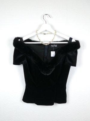vera mont shirt oberteil top S M 38 -NEU- schwarz schulterfrei fashion sexy elegant