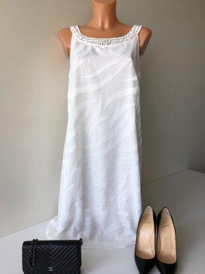 Vera Mont Soiree Abendkleid Cocktailkleid Standesamtkleid Gr. M/38-40 weis