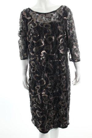 Vera Mont Spitzenkleid schwarz-silberfarben florales Muster klassischer Stil