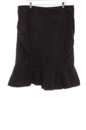 Vera Mont Falda de tafetán negro elegante