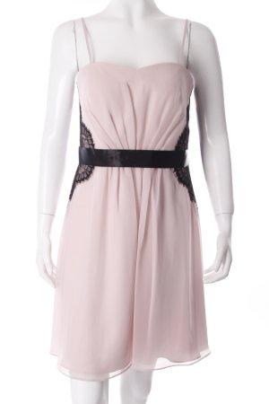 Vera Mont Trägerkleid schwarz-rosé Spitzenbesatz