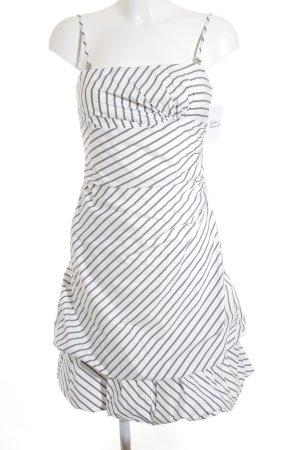Vera Mont Trägerkleid weiß-graublau Streifenmuster Party-Look