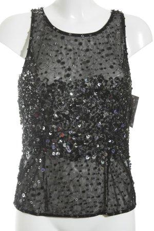 Vera Mont Canotta a bretelle nero con glitter