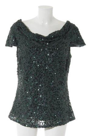 Vera Mont Camisa con cuello caído verde oscuro elegante