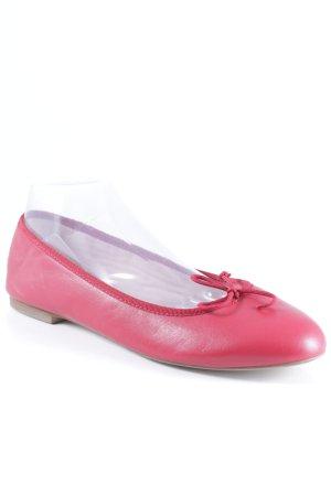 Vera Pelle faltbare Ballerinas ziegelrot schlichter Stil