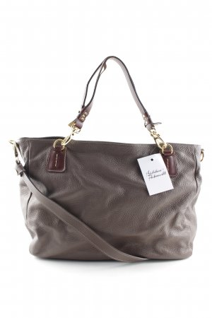 Vera Pelle Carry Bag grey brown-dark brown casual look