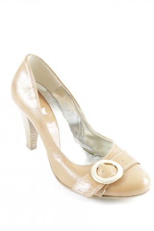 Vera Pelle High Heels camel Casual-Look