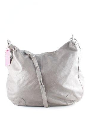 Vera Pelle Borsa sacco marrone-grigio stile casual