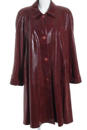 Vera Pelle Manteau en cuir bordeau style extravagant