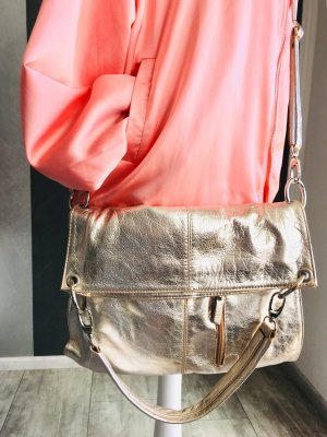 Vera Pelle - Ledertasche metallic - light Gold