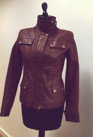 Vera Pelle Vintage Bikerjacke Echtleder Jacke kurze Lederjacke
