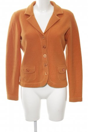 Vera Varelli Knitted Blazer light orange business style