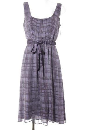 Vera Wang Trägerkleid blasslila-grauviolett Karomuster Elegant