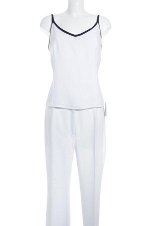 Verda Pantalone da abito bianco-blu scuro stile casual