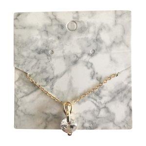Cadena de oro blanco-color oro