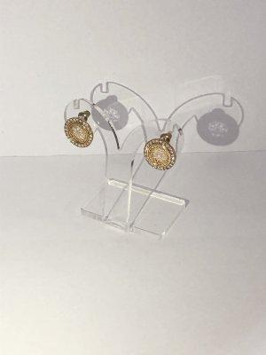 Vergoldete Ohrstecker mit Kristallen
