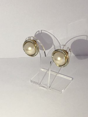 Earclip gold-colored-white
