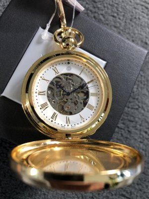Self-Winding Watch gold-colored stainless steel
