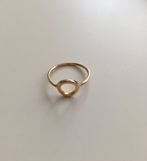 Gold Ring sand brown real silver