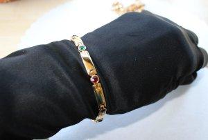 vergoldetes Armband bunte Steinchen