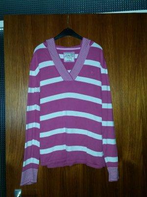 Verkaue Kapuzenpullover Gr. L von ESPRIT in pink-weiß