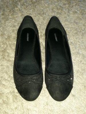 Verkaufe 2 mal getragene Ballerinas in schwarz von GRACELAND Gr. 41