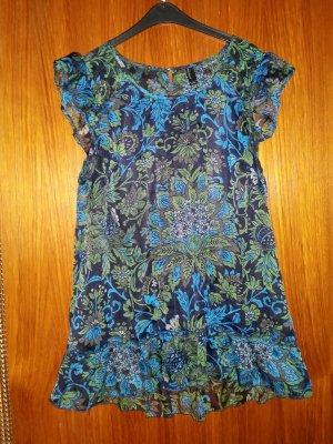 Verkaufe Bluse/Kleid Gr. M von VERO MODA in blau-schwarz-grün