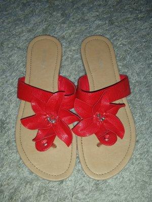 Verkaufe die Sandalen Gr. 42 in rot von GRACELAND - nur einmal getragen