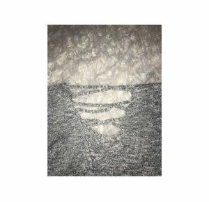 H&M Jersey de manga corta gris