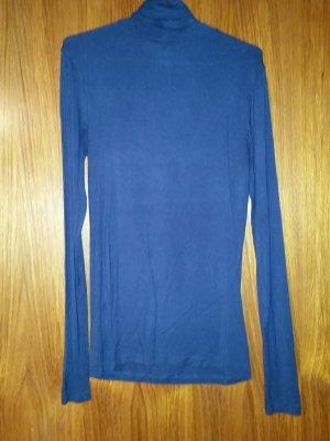 Verkaufe dünnen Rollkragenpullover in dunkelblau Gr. M von AMISU