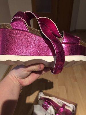 Platform High-Heeled Sandal magenta-pink