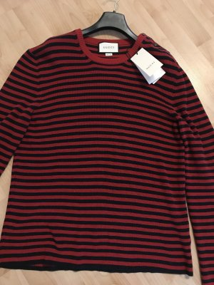 Gucci Kraagloze sweater donkerrood-zwart