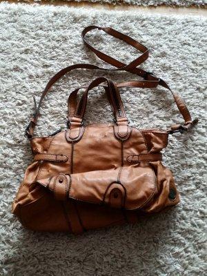 Verkaufe Handtasche in braun von ESPRIT mit vielen Fächern